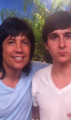 Fred with Mitchel Musso