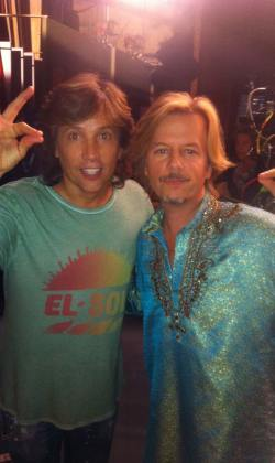 Fred with David Spade