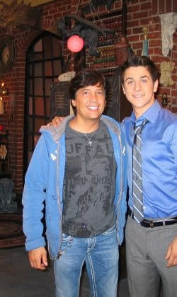 Fred with David Henrie on Wizards of Waverly Place