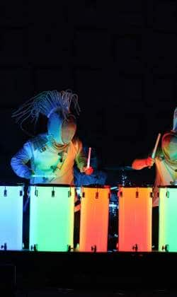 directing & choreographing lights, energy, drums -L.E.D