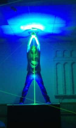 Fred rehearsing Extreme Beam