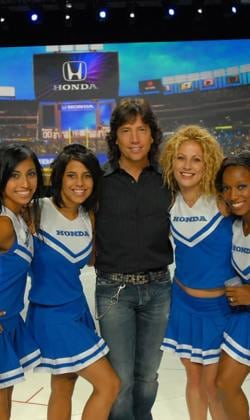 choreographing cheerleaders for Honda