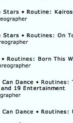 Third outstanding choreography nomination