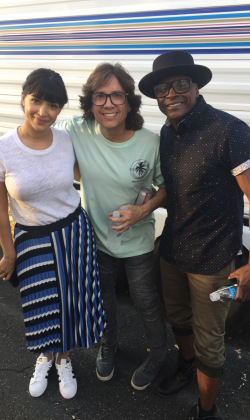 Choreographing Hannah Simone and Keith on a new TV Pilot