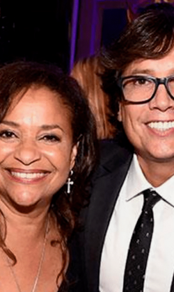 Fred with Debbie Allen