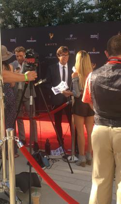 Fred being interviewed on the red carpet