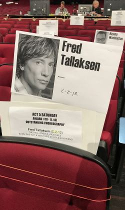 Fred's Emmy seat
