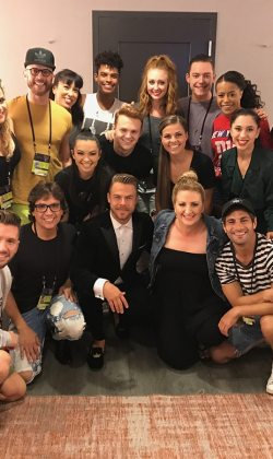 Fred with fellow Emmy nominees and dancers