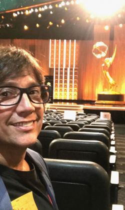 getting ready to perform at the Emmys