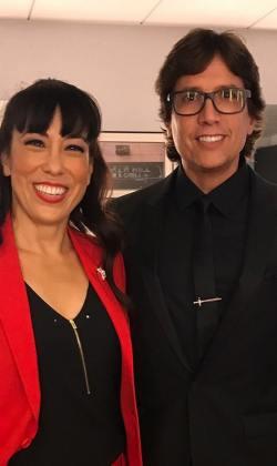 with assistant Sarah Kobayashi at the Emmys