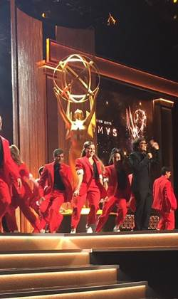 choreographing & performing live at the Emmy awards