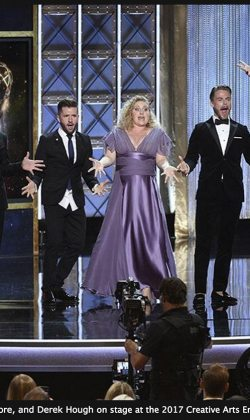 choreographing and performing live at the Emmy awards