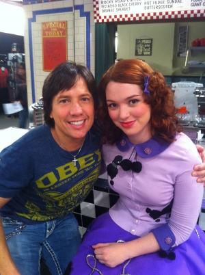 Fred with Jennifer Stone