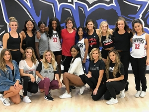 choreographing the LA Clipper spirit dance team