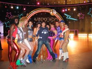 choreographing a Washington Mutual roller disco commercial