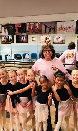 14. Choreographing baby Ballerinas